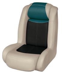 Blast-Off Tour Series High Back Bass Bucket Seat, Mushroom-Black-Green - Wise Boat Seats