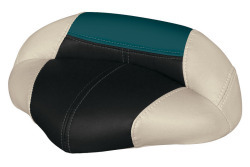 Blast-Off Tour Series Pro Casting Seat Traditional Style, Mushroom-Black-Green - Wise Boat Seats