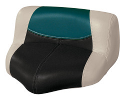 Blast-Off Tour Series Pro Casting Seat Pro-Lean Design, Mushroom-Black-Green - Wise Boat Seats