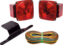 Trailer Light Kit with 25' Wire Harness & 2 Amber Clearance/Side Marker Lights - Cequent Trailer Products - Wesbar