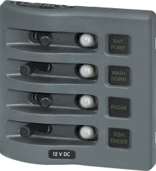 Circuit Breaker Panel, 4-Position, 45A - Blue Sea Systems