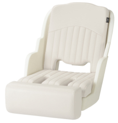 550 Roto Molded Seat with Bolster, White - Garelick