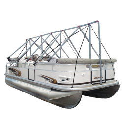 Navigloo Boat Shelter Without Tarp for 19 ft. - 22 ft 6 in. Runabout and Pontoon Boats