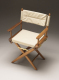 Director's chair with Natural seat covers - Whitecap