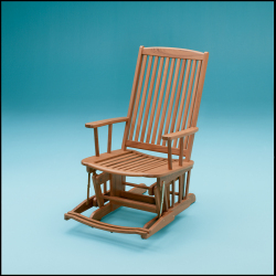 Finished teak glider chair - Whitecap