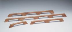 Teak Handrail - 3 loops - Whitecap