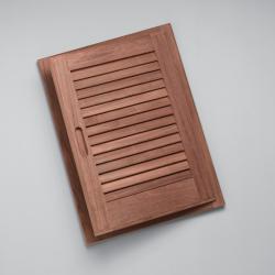 "Louvered door & frame-rand hand opening, 15"" x 20"" - Whitecap"