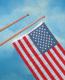 """72"""" Teak Ensign Staffs (Flag Poles) - Whitecap"""