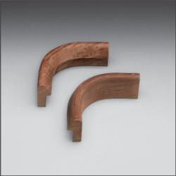 "Inside Corner rail molding 5/8""H x 1-3/16""W with 3/4"" Gap - Whitecap"