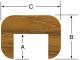 "Cap Molding 7/8""H x 1-3/16""W, 5' length - Whitecap"