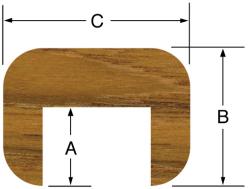 """Cap Molding 5/8""""H x 7/8""""W, 5 - Whitecap"""