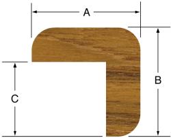 "L Molding 7/8""H x 7/8""W, 5' length - Whitecap"
