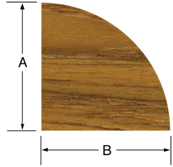 "Quarter Round Molding 3/8""H x 3/8""W, 5' length - Whitecap"