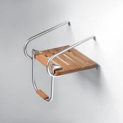 Teak Swim Platform w/Ladder Inboard/Outboard w/hardware - Whitecap