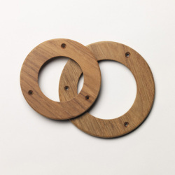 "4"" Teak Ring - Whitecap"