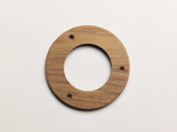 "3"" Teak Ring - Whitecap"