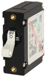Circuit Breaker, 1-Pole, 30Amp, White Toggle - Blue Sea Systems
