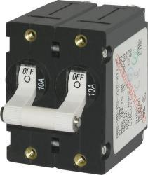 Circuit Breaker, 2-Pole, 15Amp, White Toggle - Blue Sea Systems