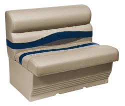 "Premier Pontoon 45"" Bench Seat, Mocha-Mocha Java Punch-Midnight-Rock Salt - Wise Boat Seats"