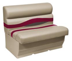 "Premier Pontoon 45"" Bench Seat, Mocha-Mocha Java Punch-Dark Red-Rock Salt - Wise Boat Seats"