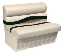 "Premier Pontoon 45"" Bench Seat, Platinum-Platinum Punch-Jade-Fawn - Wise Boat Seats"