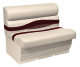"Premier Pontoon 45"" Bench Seat, Platinum-Platinum Punch-Wineberry-Manatee - Wise Boat Seats"