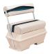 Premier Pontoon 70 Quart Cooler Flip-Flop Seat, Platinum-Platinum Punch-Navy-Cobalt - Wise Boat Seats