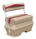 Premier Pontoon 50 Quart Cooler Flip-Flop Seat, Mocha-Mocha Java Punch-Dark Red-Rock Salt - Wise Boat Seats