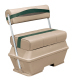 Premier Pontoon 50 Quart Cooler Flip-Flop Seat, Mocha-Mocha Java Punch-Evergreen-Rock Salt - Wise Boat Seats