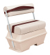 Premier Pontoon 50 Quart Cooler Flip-Flop Seat, Platinum-Platinum Punch-Wineberry-Manatee - Wise Boat Seats