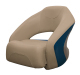 Premier Pontoon Bucket Seat with Flip-up Bolster, Mocha-Mocha Java Punch-Midnight-Rock Salt - Wise Boat Seats