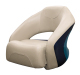 Premier Pontoon Bucket Seat with Flip-up Bolster, Platinum-Platinum Punch-Navy-Cobalt - Wise Boat Seats