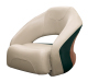 Premier Pontoon Bucket Seat with Flip-up Bolster, Platinum-Platinum Punch-Jade-Fawn - Wise Boat Seats