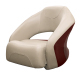 Premier Pontoon Bucket Seat with Flip-up Bolster, Platinum-Platinum Punch-Wineberry-Manatee - Wise Boat Seats