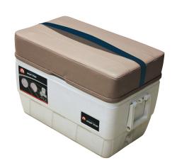 Premier Pontoon 48 Quart Igloo Cooler with Cushion, Mocha-Mocha Java Punch-Midnight-Rock Salt - Wise Boat Seats