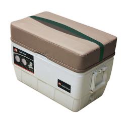 Premier Pontoon 48 Quart Igloo Cooler with Cushion, Mocha-Mocha Java Punch-Evergreen-Rock Salt - Wise Boat Seats