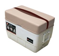 Premier Pontoon 48 Quart Igloo Cooler with Cushion, Platinum-Platinum Punch-Wineberry-Manatee - Wise Boat Seats