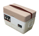 Premier Pontoon 48 Quart Igloo Cooler with Cushion, Platinum-Platinum Punch-Wineberry-Manatee - Wise Boat Seats