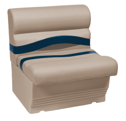 "Premier Pontoon 27"" Bench Seat, Mocha-Mocha Java Punch-Midnight-Rock Salt - Wise Boat Seats"