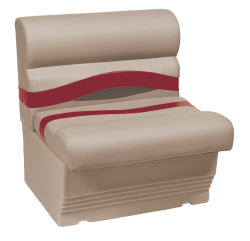"Premier Pontoon 27"" Bench Seat, Mocha-Mocha Java Punch-Dark Red-Rock Salt - Wise Boat Seats"