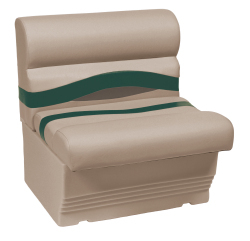 "Premier Pontoon 27"" Bench Seat, Mocha-Mocha Java Punch-Evergreen-Rock Salt - Wise Boat Seats"