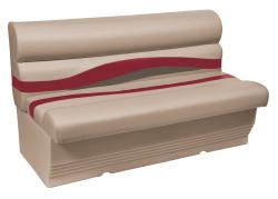 "Premier Pontoon 50"" Bench Seat, Mocha-Mocha Java Punch-Dark Red-Rock Salt - Wise Boat Seats"