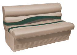 "Premier Pontoon 50"" Bench Seat, Mocha-Mocha Java Punch-Evergreen-Rock Salt - Wise Boat Seats"