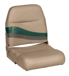 Premier Pontoon Fold Down Boat Seat, Mocha-Mocha Java Punch-Evergreen-Rock Salt - Wise Boat Seats