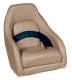 Premier Pontoon Captain Bucket Seat, Mocha-Mocha Java Punch-Midnight-Rock Salt - Wise Boat Seats