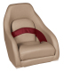 Premier Pontoon Captain Bucket Seat, Mocha-Mocha Java Punch-Dark Red-Rock Salt - Wise Boat Seats