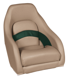 Premier Pontoon Captain Bucket Seat, Mocha-Mocha Java Punch-Evergreen-Rock Salt - Wise Boat Seats