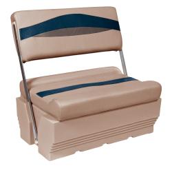 Premier Pontoon Flip-Flop Seat, Mocha-Mocha Java Punch-Midnight-Rock Salt - Wise Boat Seats