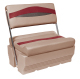 Premier Pontoon Flip-Flop Seat, Mocha-Mocha Java Punch-Dark Red-Rock Salt - Wise Boat Seats