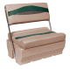 Premier Pontoon Flip-Flop Seat, Mocha-Mocha Java Punch-Evergreen-Rock Salt - Wise Boat Seats